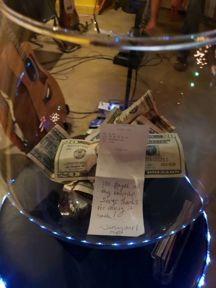 Note In Tip Jar